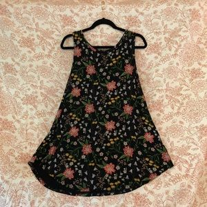 Xl old navy swing tank floral mock embroidery